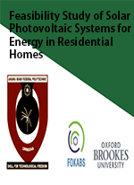Feasibility Study of Solar Photovoltaic Systems for Energy in Residential Homes: A Case Study of Metropolitan Lagos, Nigeria