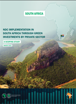 NDC implementation in South Africa through green investments by private sector – A Scoping Study